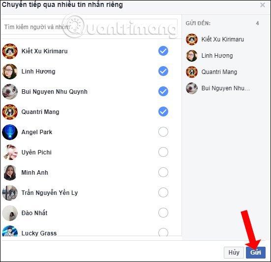 Cách gửi tin nhắn hàng loạt trên Facebook cho nhiều người mới nhất 2020