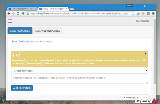 hướng dẫn tạo chatbot một cách đơn giản và nhanh chóng