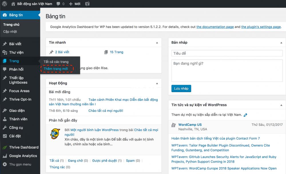 Hướng dẫn tạo Landing page bằng WordPress mới nhất 2020