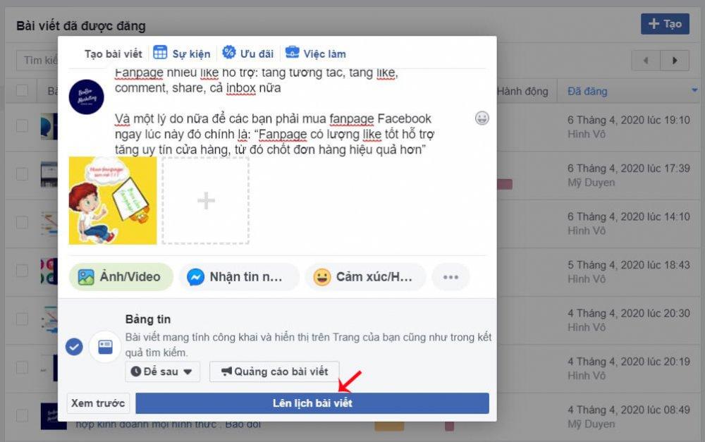 Cách Hẹn Giờ đăng Bài Trên Facebook 11