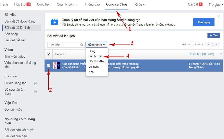 Cách Hẹn Giờ đăng Bài Trên Facebook 12