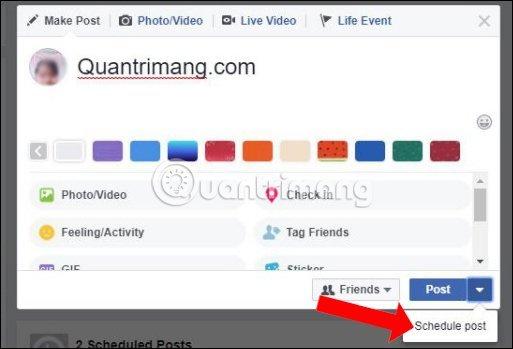Cách Hẹn Giờ đăng Bài Trên Facebook 2