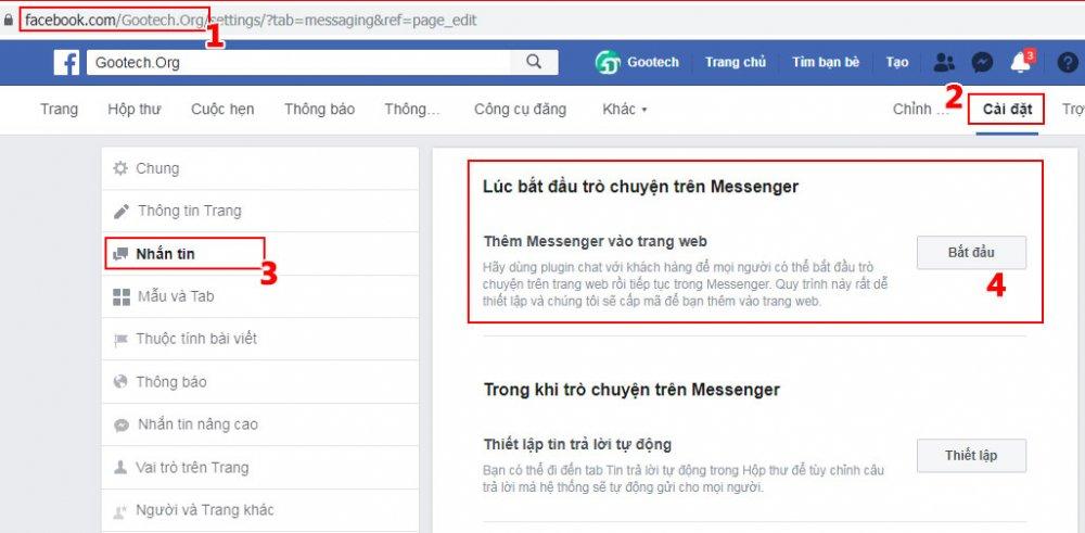 Hướng dẫn cách nhúng Chat Facebook vào Web mới nhất 2020