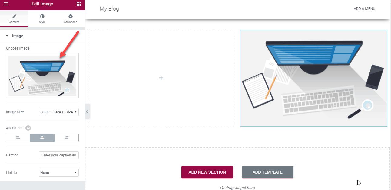 tạo landing page đơn giản sử dụng elementor 9